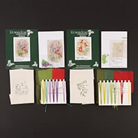 Rowandean Embroidery Pack of 2 Mini Bundle - Poppies Again and Wa-582977