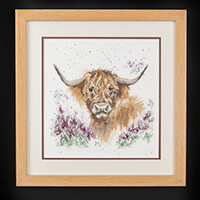 Stitch Kits Wrendale Highland Cattle Counted Cross Stitch Kit-587154