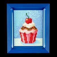 Pixelhobby Cupcake with Frame - 1 x Baseplates, 34 x Pixelsquare -587620