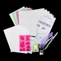 Flower Crafting Set with Flower Punch - A4 Card & Paper, Embellis-588570