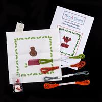 Dizzy & Creative Stumpwork Embroidery Kit - Christmas Robin-590450