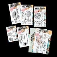 AALL & Create 5 x Stamp Sets & Stencil - Graffiti, Mandala's, Cir-590877
