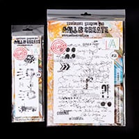 AALL & Create 2 x Stamp Sets - A4 Scribble it and Hand Prints - 5-591713