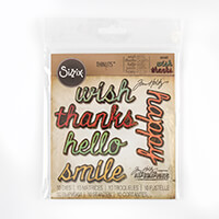 Sizzix® Thinlits™ Set of 10 Dies - Cut Words #2 by Tim Holtz-593373