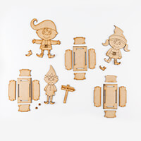 Karacter Krafts Elves 3 x Sweet Treat Boxes-593770