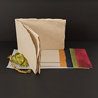 Book Making Folded Kit - Pages, Waxed Papers, Interlining, Thread-594138
