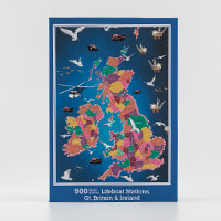 JHG Lifeboats & Countires Map of Great Britian and Ireland Puzzle-594158