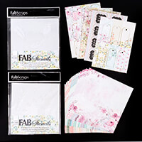 FabScraps Memory Lane Carders Pack and 2 x 8x8