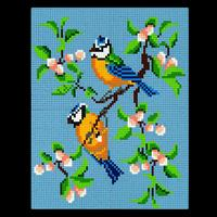 Pixelhobby Blue Tits - 4 x Baseplates, 66 x Pixelsquare Sheets & -595240
