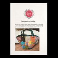 Fabric Affair Crazy Patchwork Shoulder Bag Pattern-596033