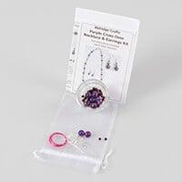 Aldridge Crafts Cross Over Necklace & Earring Kit-596457