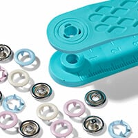 Empress Mills Jersey Snap Fasteners - 21 Pieces-597099