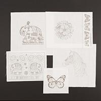 Pink Ink Designs Colour, Cut & Create - Elephant, Zebra, Floral E-597744