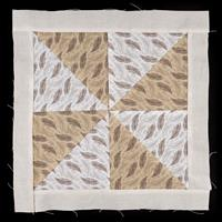 Handmade by Hayley Cut and Quilt Block Windmill -100% Cotton-598568