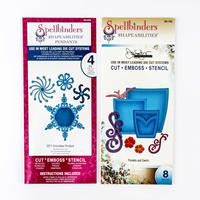 Spellbinders Shapeabilities 2 x Die Sets - Pockets And Swirls & 2-600070
