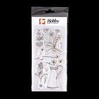 Hobby Art Floral Garden DL Clear Stamp Set - 13 Stamps-600379