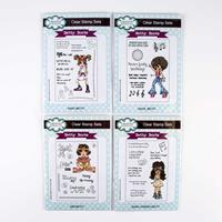 Creative Expressions 4 x Clear Stamp Sets - Betty Boots Collectio-600988
