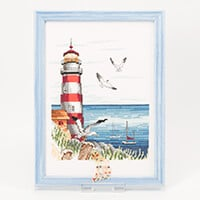 Permin Lighthouse with Seagulls 20cm x 28cm-601277