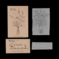 Stamp Addicts 2 x Rubber Stamps - Wildflower Posy & Thanks a Bunc-601497