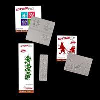 Cottage Cutz Set of 3 Dies - Santa's Sled, Strawberry Border & Sp-601521