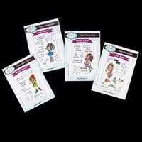 Creative Expressions 4 x Stamp Sets - Betty Boots Collection - 50-602652