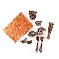 Colouricious Tea for Two 9 Piece Wooden Block Set - 29cm x 21cm x-603821