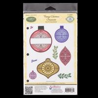 Justrite Cling Stamp Set - Vintage Christmas Ornaments - 9 Stamps-604832