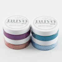 Nuvo 4 x Embellishment Mousse - Persian Red, Cornflower Blue, Aub-604988