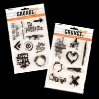 StudioLight 2 x DL Clear Grunge Stamp Sets - Positive and Inspire-607052