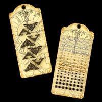 Graphic 45 Matte Pearl Gems & Ornate Metal Corners-607075