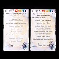 That's Crafty! A6 Clear Stamp Set - Lynne's Affirmations Set 11 &-607631