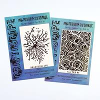 Craftascope 2 x A5 Media Stencils - Branching Out and All The 8's-607788