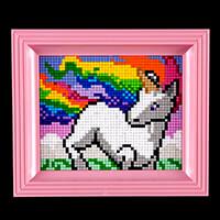 Pixelhobby UK Rainbow Unicorn Kit - 1 x Baseplate, 27 x Pixelsqua-608592