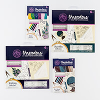 Threaders Pack of 2 Embroidery Transfer Sheets & Cotton - 12 x Tr-609096