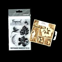 Kaisercraft 'Paradise Found' Clear Stamp Set and 'Relax' Flourish-609584