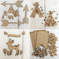 Olifantjie Adventure MDF Kits with Embellishments - Makes 4 Proje-610236
