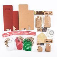 Christmas DIY Paper Gifting Set - Boxes, Tags, Envelopes, Stamps -610742