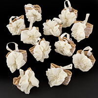 Craft Buddy Set of 12 Handmade Hessian Favour Gift Bags with Sati-610759