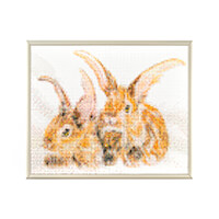 Pixelhobby UK Rabbits Kit - 4 Baseplates, 98 Pixelsquare Sheets &-614259