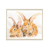 Pixelhobby UK Rabbits Kit - 4 Baseplates, 98 Pixelsquare Sheets &-614259