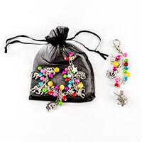 Aldridge Crafts Bead & Charm Bracelet Kit with Bag Charm - Unicor-614391