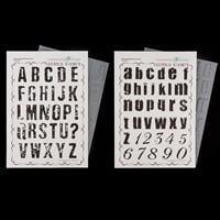 Chocolate Baroque Distressed Alphabet A4 Complete Stamp Set-614464