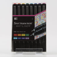 Spectrum Noir Artliner 8 x Fine Liner Pens - Bright-614720