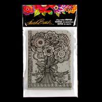 Stampendous Laurel Burch Flower Bouquet Stamp-615745