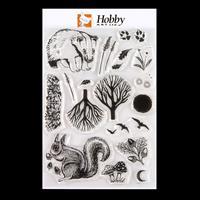 Hobby Art Nature Prints A5 Clear Stamp Set designed by Deva Evans-616340