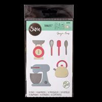 Sizzix® Thinlits Set of 10 Dies - Kitchen Set by Georgie Evans-616761