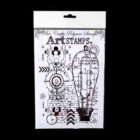 Bee Crafty XL Art Stamps - Light Bulb Circuit - 1 Stamp - 14.5cm -617519