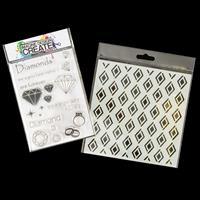 Imagine Design Create Diamond Love A6 Stamp Set and Diamond Patte-619012