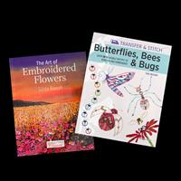 Search Press 2 x Tutorial Books - The Art of Embroidered Flowers -619863