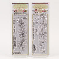 Which Craft? Book Mark Size Stamps Set of 2 - Youre Loved & Live,-620961